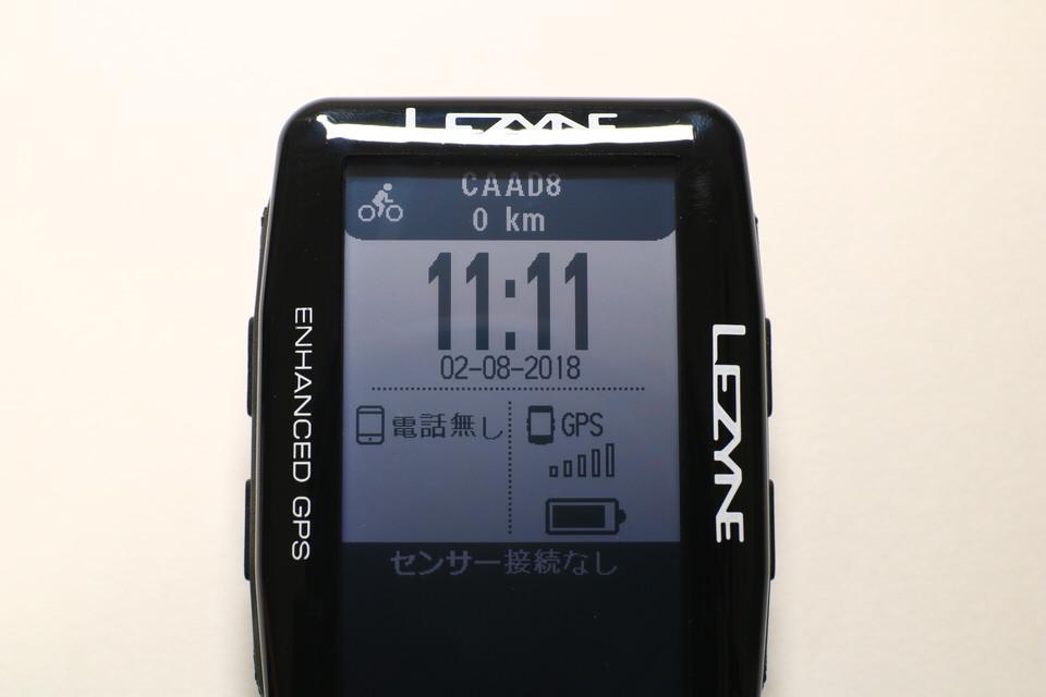 LEZYNE MEGA XL GPS(レザイン メガ XL GPS)のディスプレイを正面からみた写真。写りがキレイ