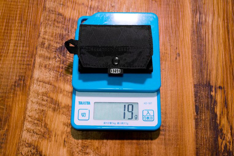 R250 トライフォールド ミニワレットの重量
