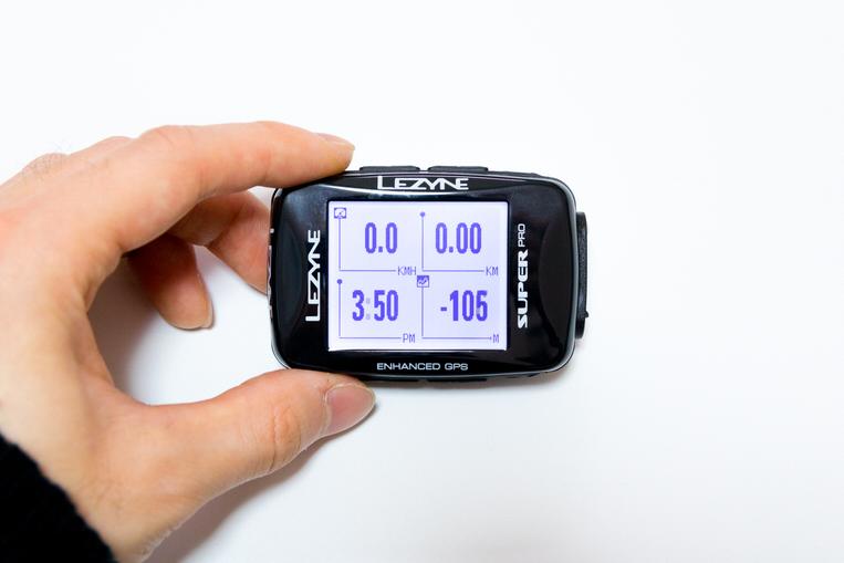 LEZYNE SUPER PRO GPSの横向き画面