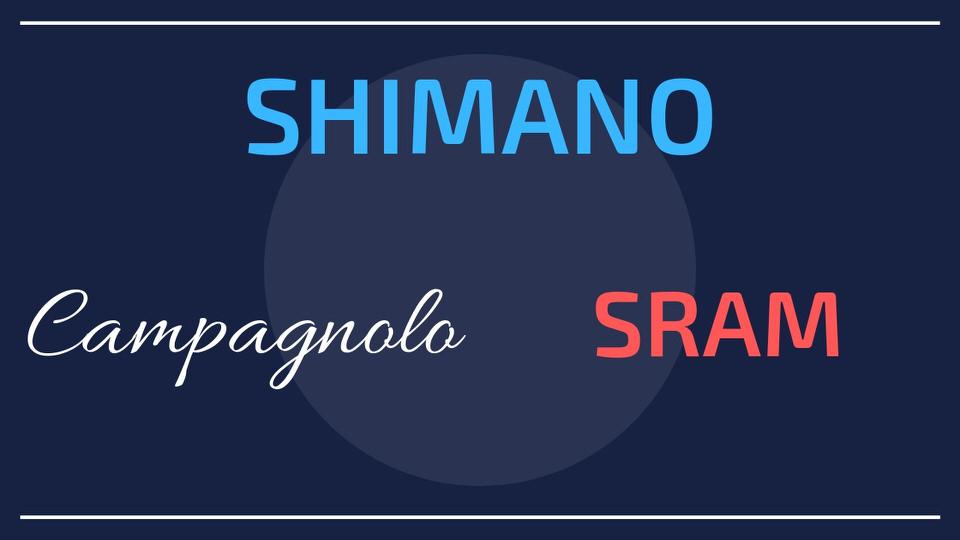 ロードバイクのコンポーネントの3大メーカー「SHIMANO・campagnolo・SRAM」の違いを紹介